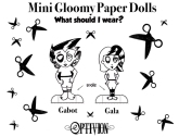 Optivion- Gabot and Gala-Mini Gloomy Paper Dolls-Small