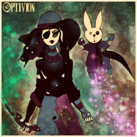 optivion - Harajuku Witch and her magical flying bunny