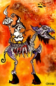 oPTIVION - Little Scamurai (watercolors)