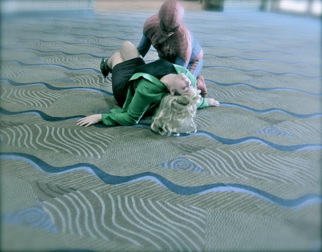 Florida Tampa Bay Comic Con -The spiderman and girl