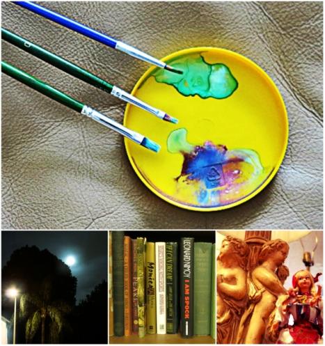 Optivion -Books and Art Collage