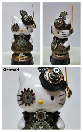 Optivion - Hello Kitty Steampunk Sculpture