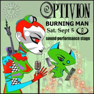 Optivion - Burning Man #gig #flyer #music