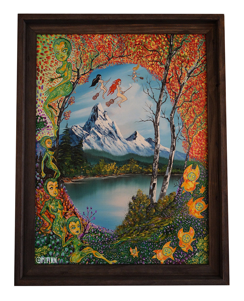 optivion - forest creatures and three witches PAINTING ART