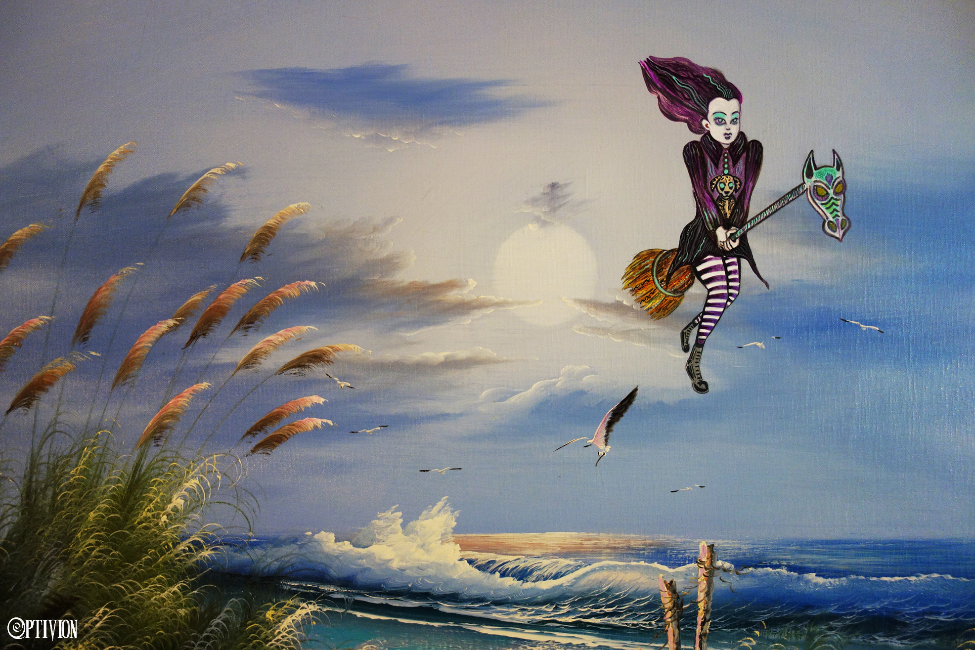 OptivioN - My gothic Beach painting