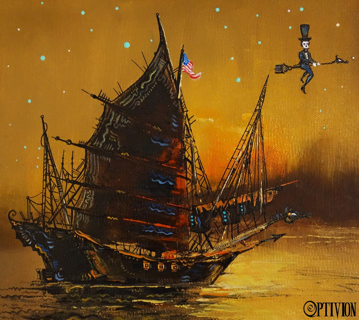 OptivioN - schooner and lincoln artwork