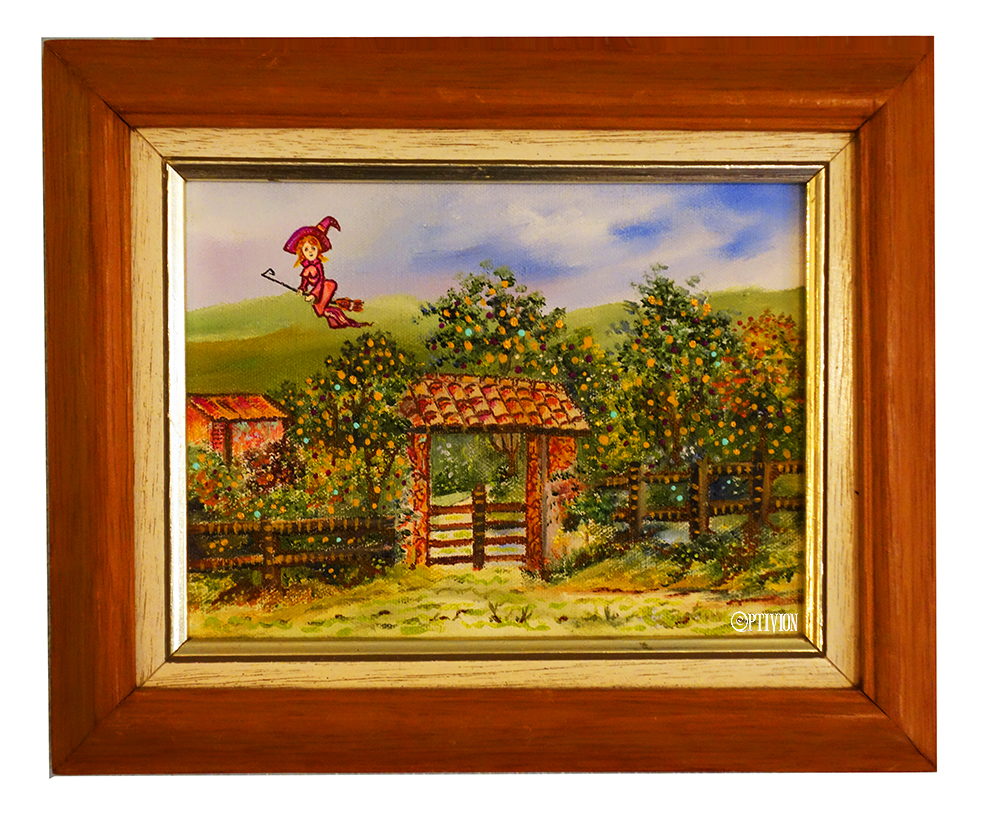 OptivioN - Witch Over Tuscany painting